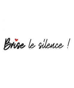 T-shirt Brise le silence Les Mots de Myra